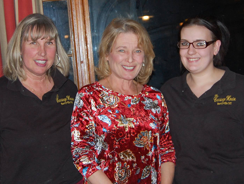 Agnes Benke and Carriage House Staff