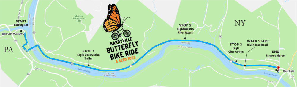 Bike Ride stop locations Map