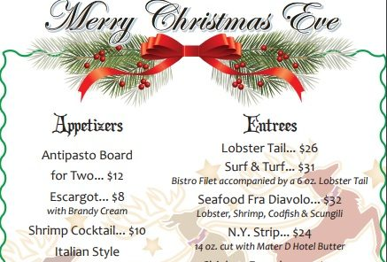 Christmas Eve Dinner Menu.Christmas Eve Dinner Greater Barryville Chamber Of Commerce