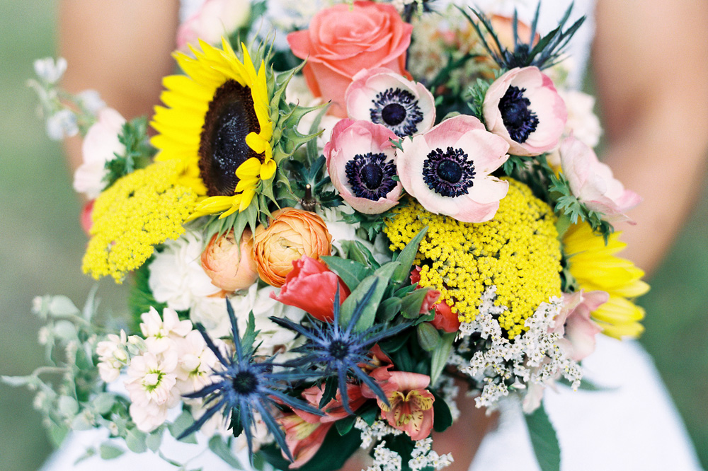 Floral Cottage Wedding-wildflower Bouquet