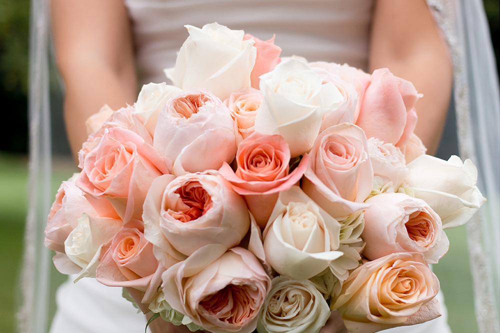 Floral Cottage wedding bouquet of roses