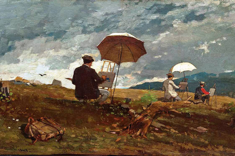 Winslow Homer Artists Sketching in the White Mountains 1868