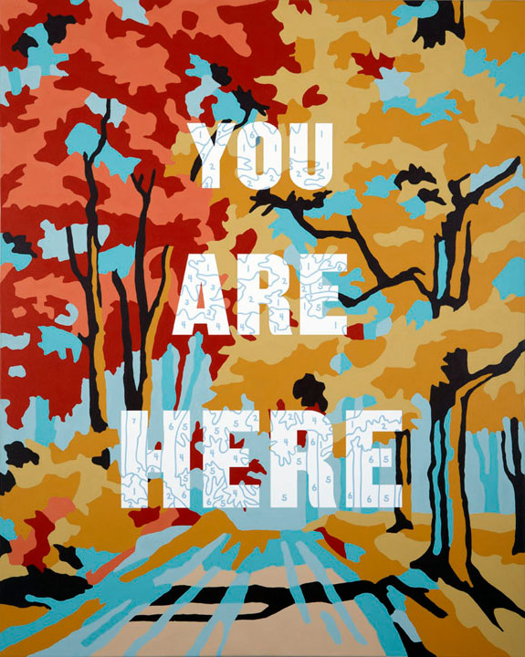 paint by numbers theme You are Here painting by Trey Speegle