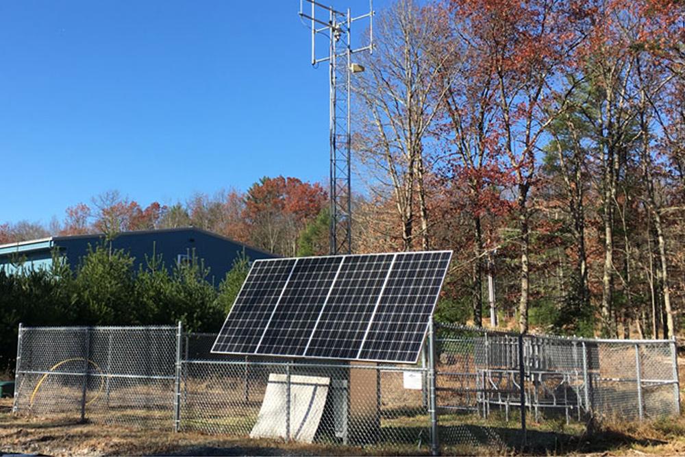 solar powered station